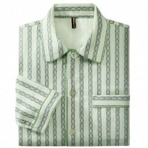Blancheporte Klasické pyžamo, flanel zelená 97/106 (L)