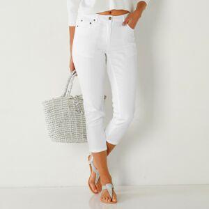 Blancheporte 3/4 slim džíny bílá 38
