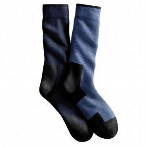 Blancheporte Pracovní ponožky, sada 2 párů nám.modrá/modrá džínová 39/42