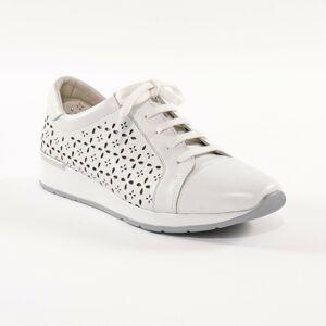 Blancheporte Kožené tenisky s ažurou, bílé bílá 39