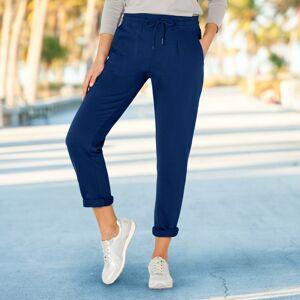 Blancheporte Meltonové kalhoty modrá džínová 42/44