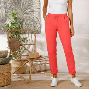 Blancheporte Meltonové kalhoty korálová 50