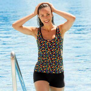Blancheporte Jednodílné plavky s nohavičkami, tankiny efekt vícebarevná 42
