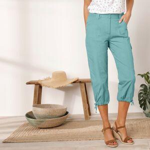 Blancheporte 3/4 kalhoty s úpletovým pásem bledě modrá 54