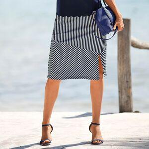 Blancheporte Pruhovaná sukně temně modrá/bílá 46