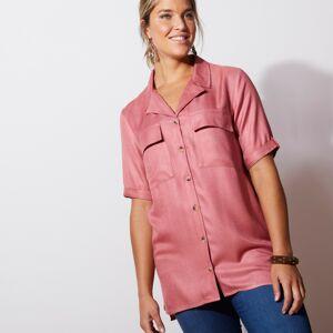 Blancheporte Saharská košile s rukávy k loktům starorůžová 42