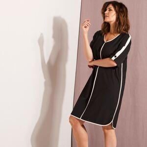 Blancheporte Šaty s kontrastními pruhy černá/bílá 46