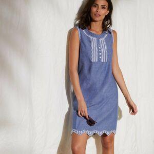 Blancheporte Šaty s výšivkou modrá 46
