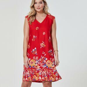 Blancheporte Šaty s krajkovým zakončením, červené červená 42/44