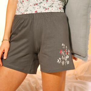 Blancheporte Pyžamové šortky se středovým potiskem květin bronzová 42/44
