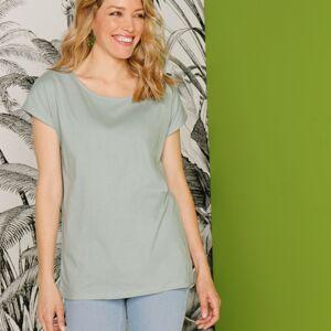 Blancheporte Tričko s krátkými rukávy, khaki, eco-friendly světlá khaki 50