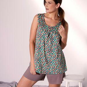 Blancheporte Pyžamo se šortkami a minimalistickým designem hnědošedá 56