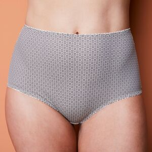 Blancheporte Kalhotky maxi s grafickým vzorem slonová kost 48
