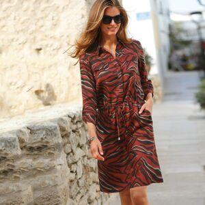 Blancheporte Košilové šaty s potiskem paprika/čokoládová 40