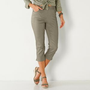 Blancheporte Strečové korzárské kalhoty khaki 36