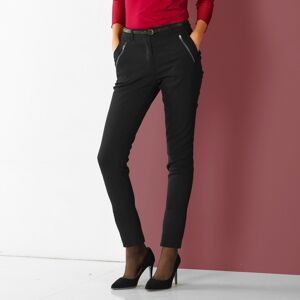 Blancheporte 7/8 kalhoty se zipy a kapsami černá 52