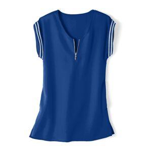 Blancheporte Jednobarevná tunika se zipem tmavě modrá 44
