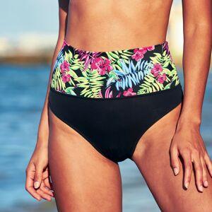 Blancheporte Plavkové slipové tvarující kalhotky, s potiskem džungle/černá 38