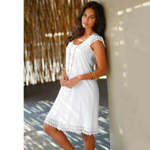 Blancheporte Šaty s macramé bílá 52
