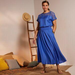 Blancheporte Dlouhá vzdušná sukně modrá 50