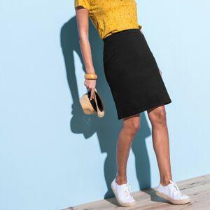 Blancheporte Rovná jednobarevná sukně černá 50