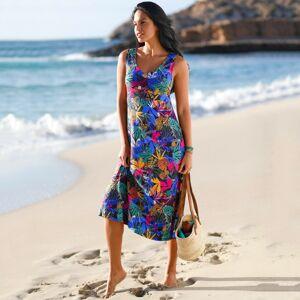 Blancheporte Dlouhé šaty s potiskem černá/vícebarevná 56