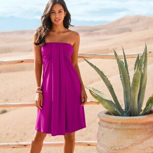 Blancheporte Šaty s odnímatelnými ramínky, jednobarevné purpurová 50