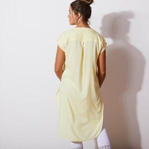 Blancheporte Dlouhá jednobarevná tunika žlutá 48