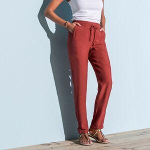 Blancheporte 7/8 jednobarevné vzdušné kalhoty tomatová 48