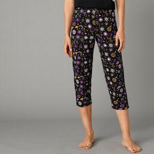 Blancheporte 3/4 pyžamové kalhoty s potiskem černá 50