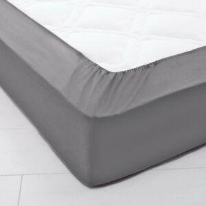 Blancheporte Jednobarevné napínací prostěradlo, bavlna, hloubka rohů 32 cm antracitová napínací prostěradlo 160x200cm