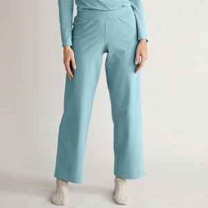 Blancheporte Široké kalhoty z bio bavlny modrošedá 50
