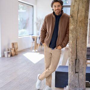 Blancheporte Rovné tvilové kalhoty s 5 kapsami, bavlna béžová 48