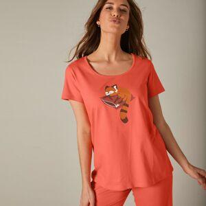 Blancheporte Pyžamo s potiskem pandy červené, se 3/4 kalhotami korálová 54