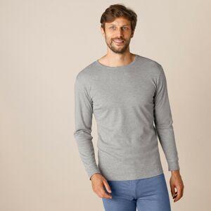 Blancheporte Sada 2 spodních triček s dlouhými rukávy, polyester šedý melír 101/108 (XL)
