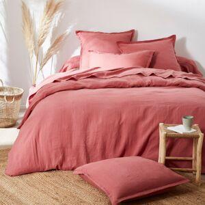 Blancheporte Jednobarevné ložní prádlo, ze lnu v prané úpravě růžové dřevo povlak na přikrývku 240x220cm