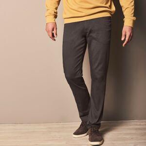 Blancheporte Rovné tvilové kalhoty s 5 kapsami, bavlna kaštanová 46