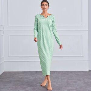 Blancheporte Dlouhá noční košile s dlouhými rukávy mořská zelená 50