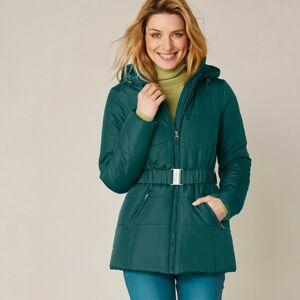 Blancheporte Krátká prošívaná bunda s páskem zelená jedlová 48