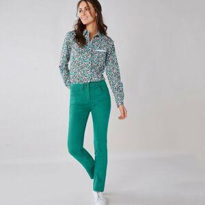 Blancheporte Tvarující kalhoty s 5 kapsami smaragdová 38