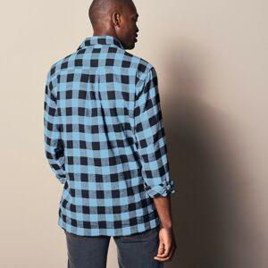 Blancheporte Kostkovaná košile, flanel, sada 3 ks modrá/černá/červená 45/46