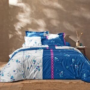 Blancheporte Povlečení Kimori, bavlna modrá povlak na polštář 65x65cm+lem