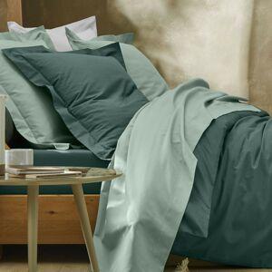Blancheporte Jednobarevné povlečení, bavlna zelenkavá napínací prostěradlo 140x190cm