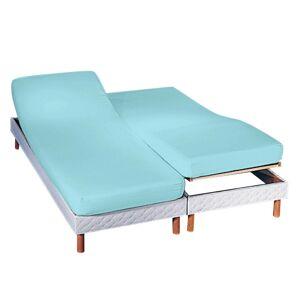 Blancheporte Napínací jednobarevné prostěradlo na polohovací postele, hloubka rohů 27 cm blankytně modrá napínací prostěradlo 180x200cm
