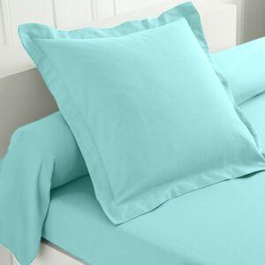 Blancheporte Jednobarevné povlečení, flanel zn. Colombine blankytně modrá povlak na polštář 50x70cm+lem