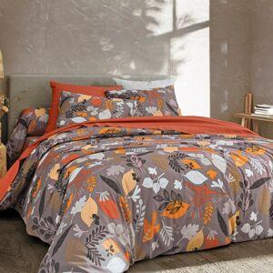Blancheporte Povlečení Forest, bavlna terakota napínací prostěradlo 90x190cm