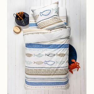 Blancheporte Dětská ložní souprava Marin, bavlna, potisk modrá napínací prostěradlo 90x190cm