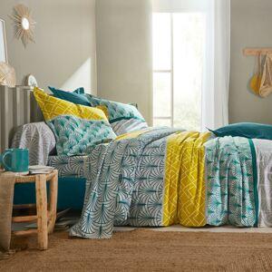 Blancheporte Povlečení Eddy s grafickým designem, bavlna zelená povlak na přikrývku 140x200cm