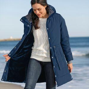 Blancheporte Dlouhá nepromokavá prošívaná bunda modrošedá 40