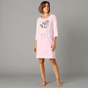 Blancheporte Noční košile s potiskem koťátka růžová 38/40